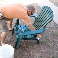How To Paint Plastic Chairs Office Chair Kijiji Ugly Reclaimed And Made New With Some Love Spray Let Dry
