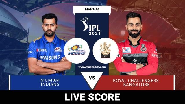 Vivo IPL 2021 M01: MI Vs RCB Live Score Telecast Head to Head Records | VIVO IPL 2021 Mumbai Indians Vs Royal Challengers Bangalore Live Match score Telecast Broadcast