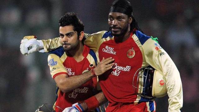 Virat Kohli and Chris Gayle