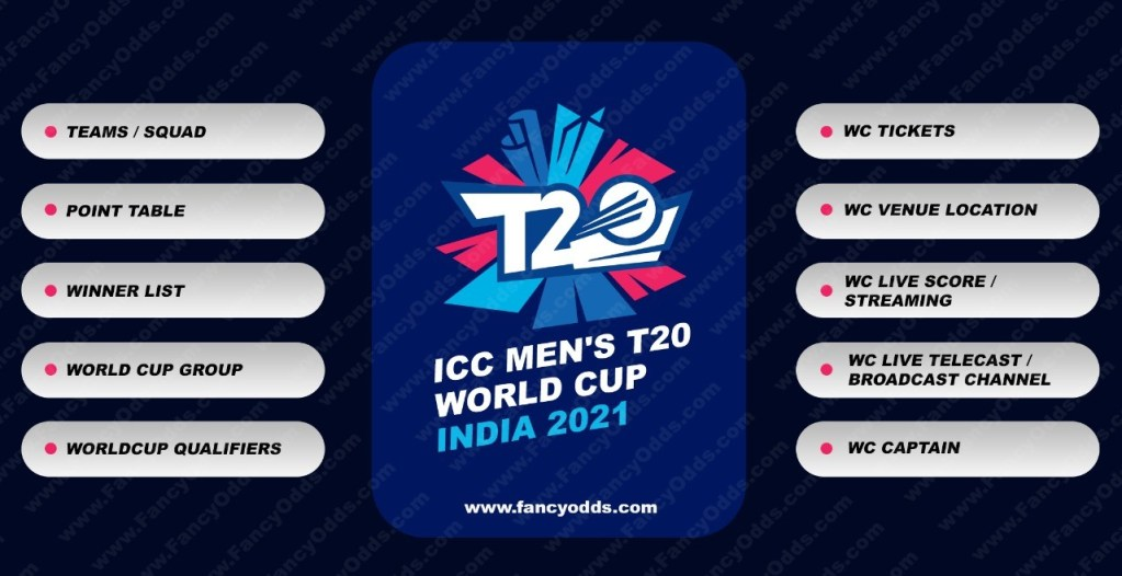 ICC T20 Mens Cricket World Cup 2021 | Schedule | Venus | Location | Time Table | PDF | Ranking | Point Table | Fixture