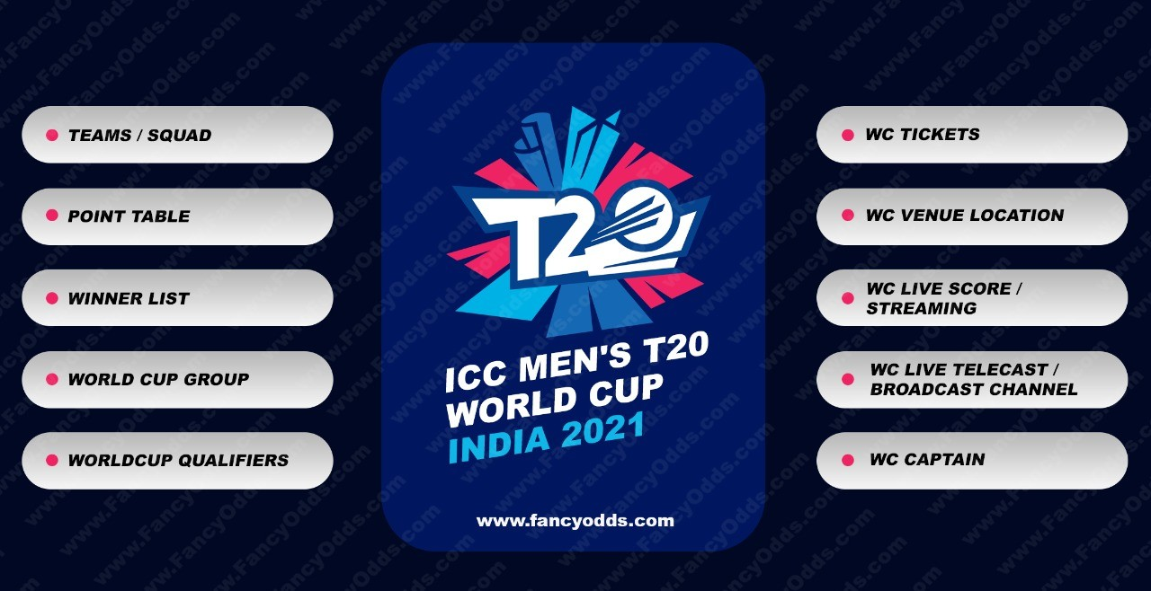 ICC T20 Mens Cricket World Cup 2021   Schedule   Venus   Location   Time Table   PDF   Ranking   Point Table   Fixture