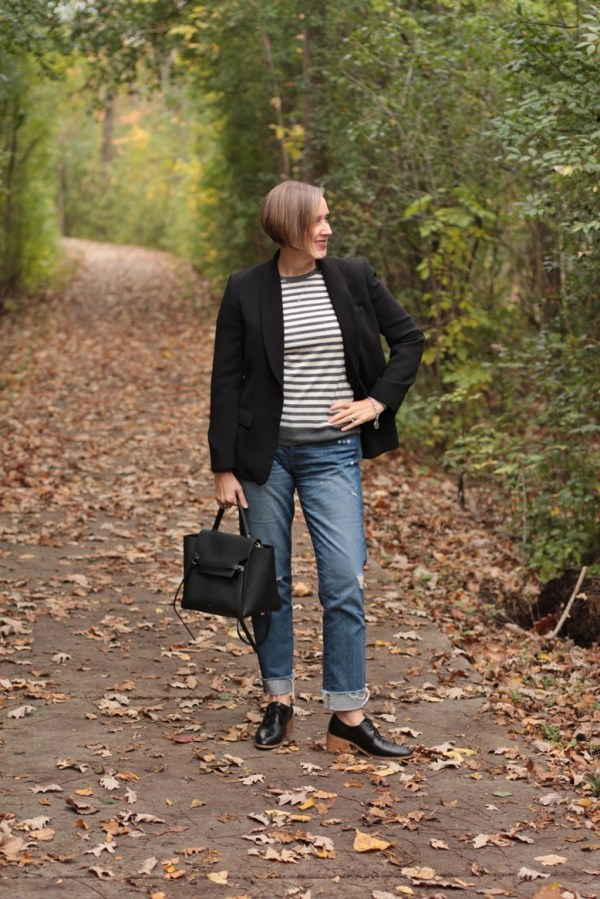 borrowed from the men, 40 + style blogger, 40 + fashion blogger