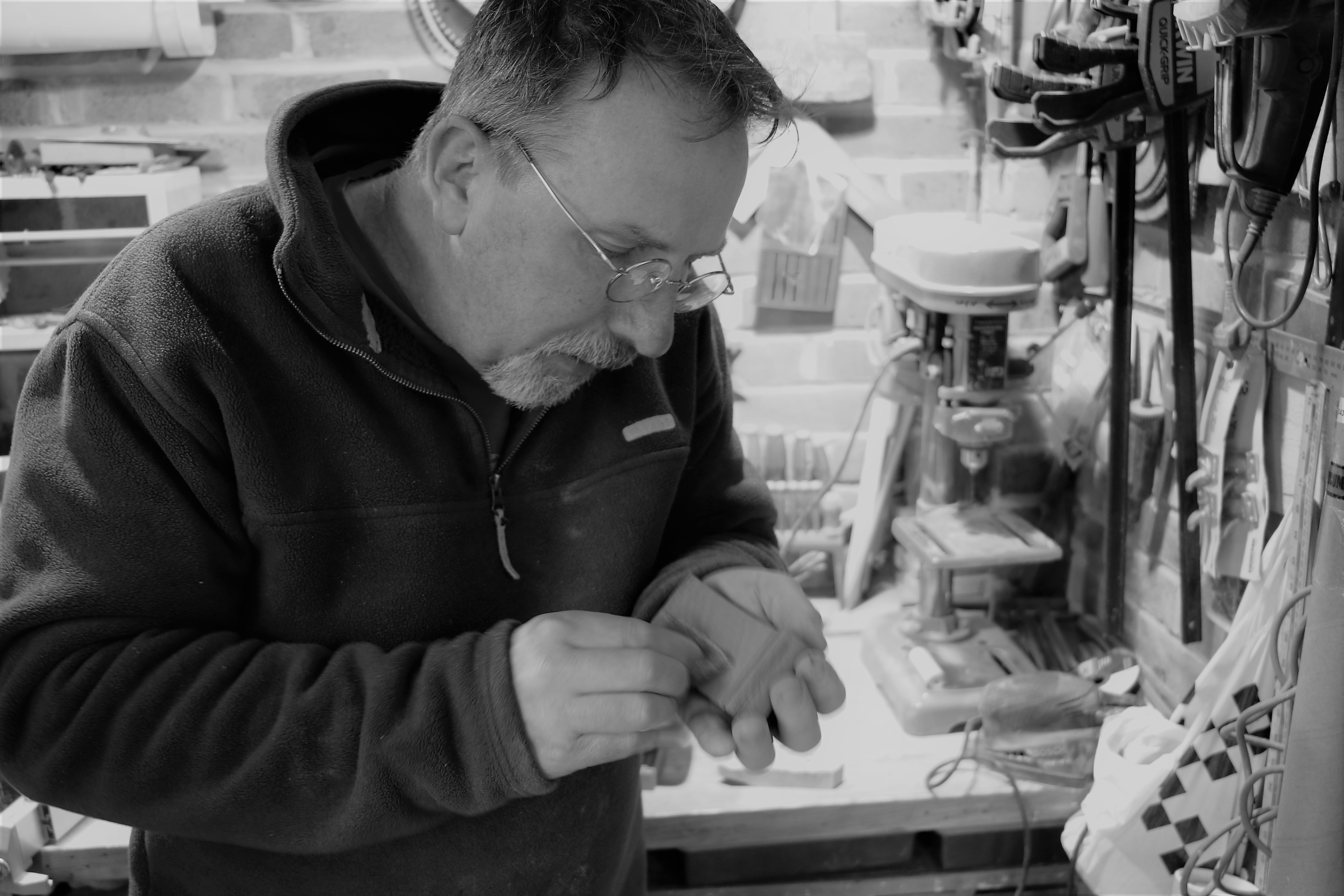 Handmade Bob Iles in his workshop