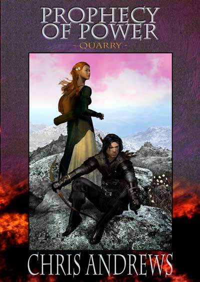 Bookcover of a man and a woman overlooking a valley.