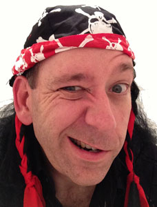 Chris Andrews wearing a Pirate Bandanna