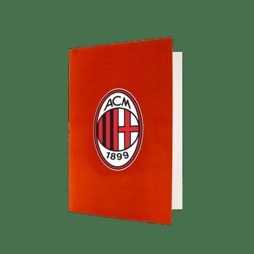 AC Milan red greeting card