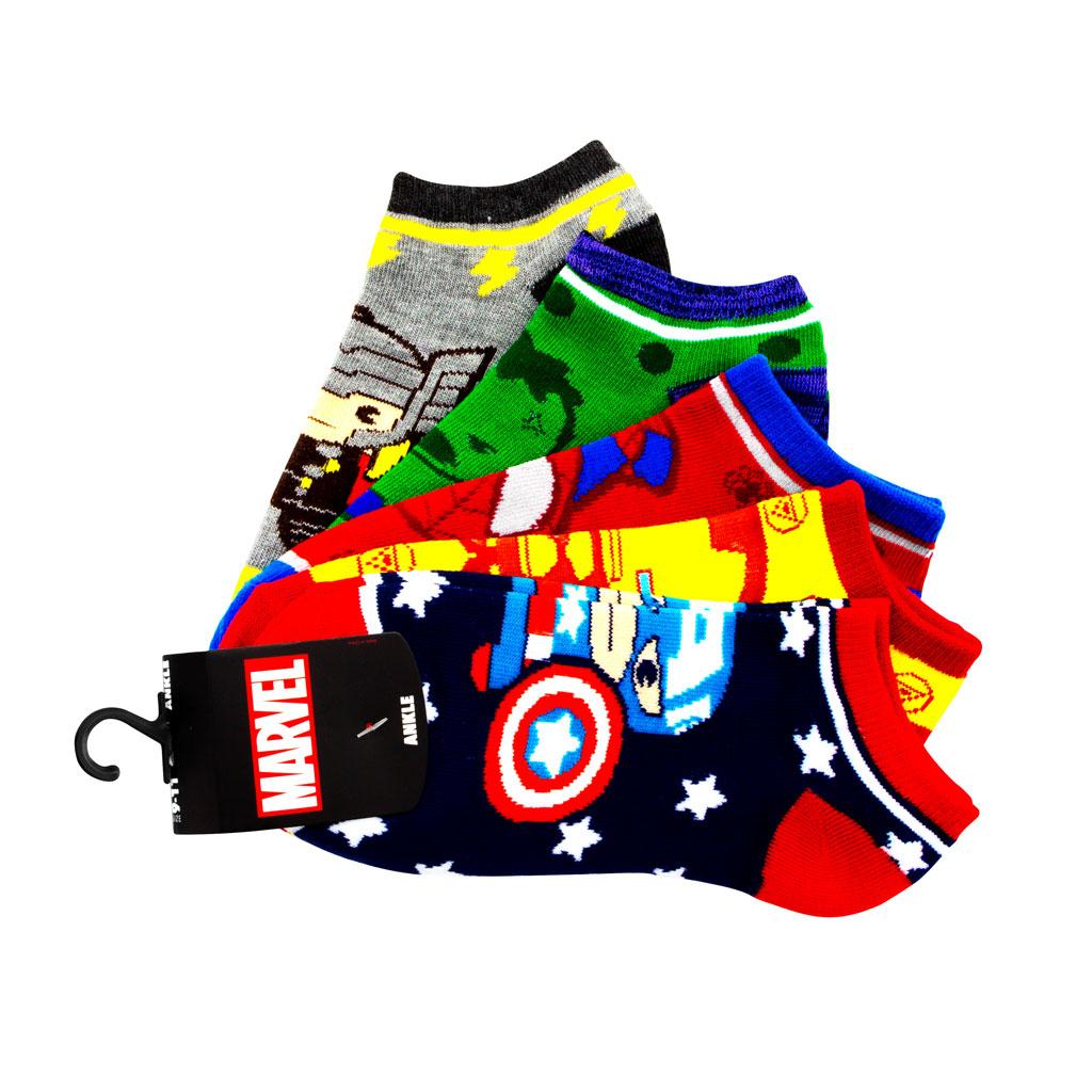 Avengers 5 pack Ankle Socks - Junior