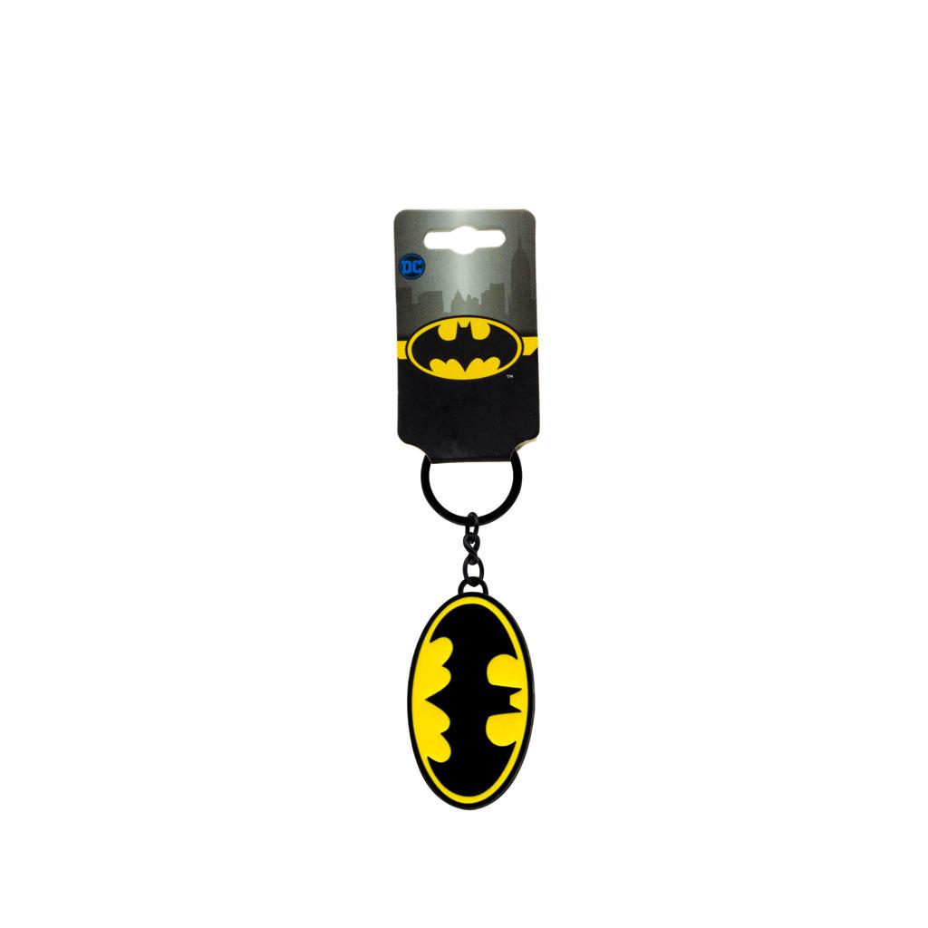 Batman Heavy Metal Logo Keychain