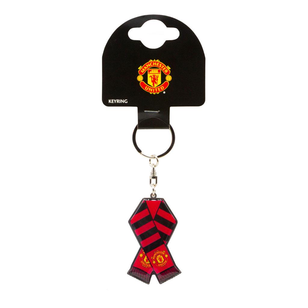 Manchester United Bar Scarf Metal Keychain