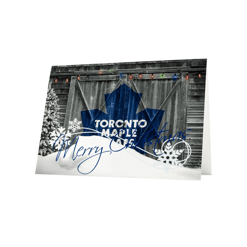 Maple leafs Merry Christmas greeting card