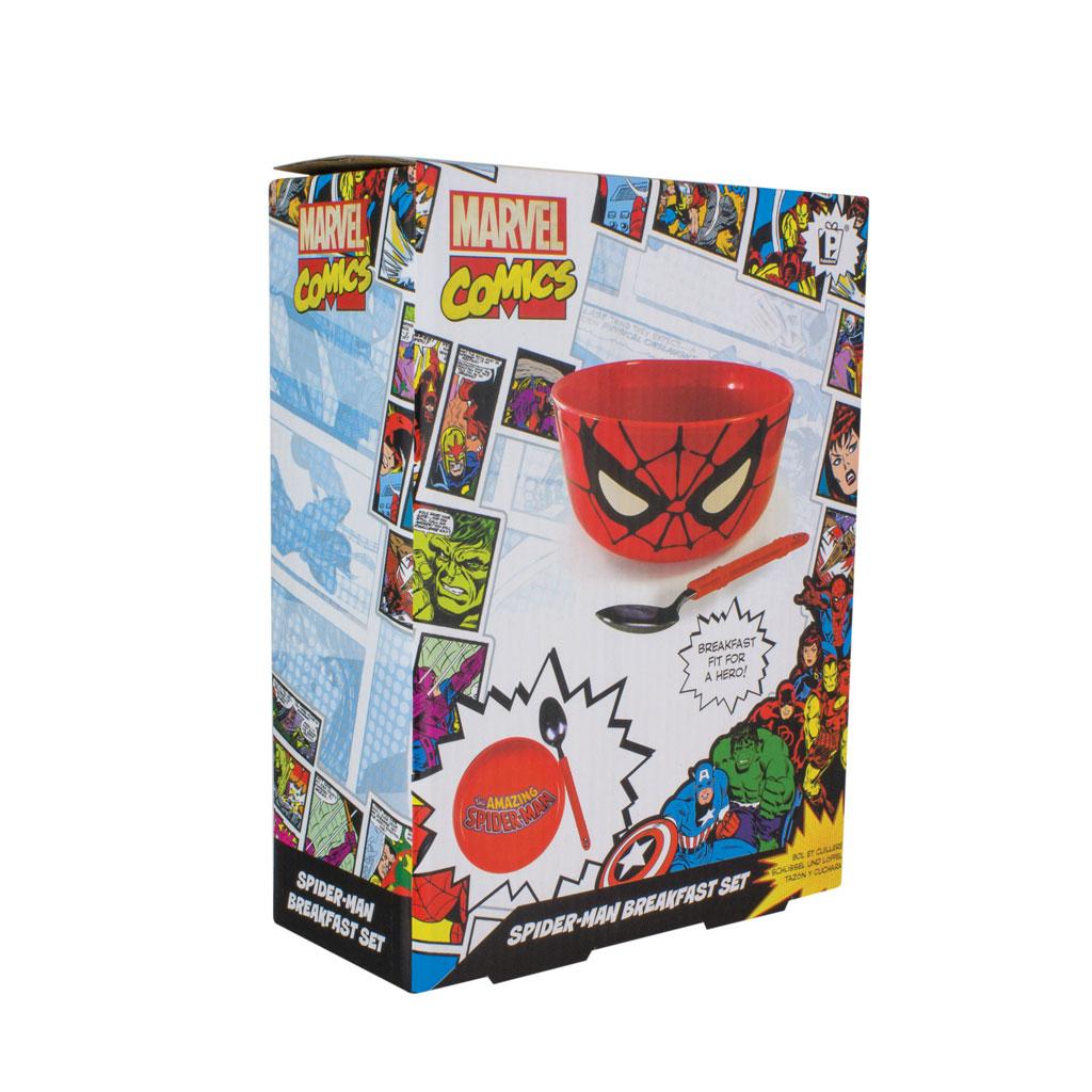 Spiderman Breakfast Bowl wwith spoon Set in box display