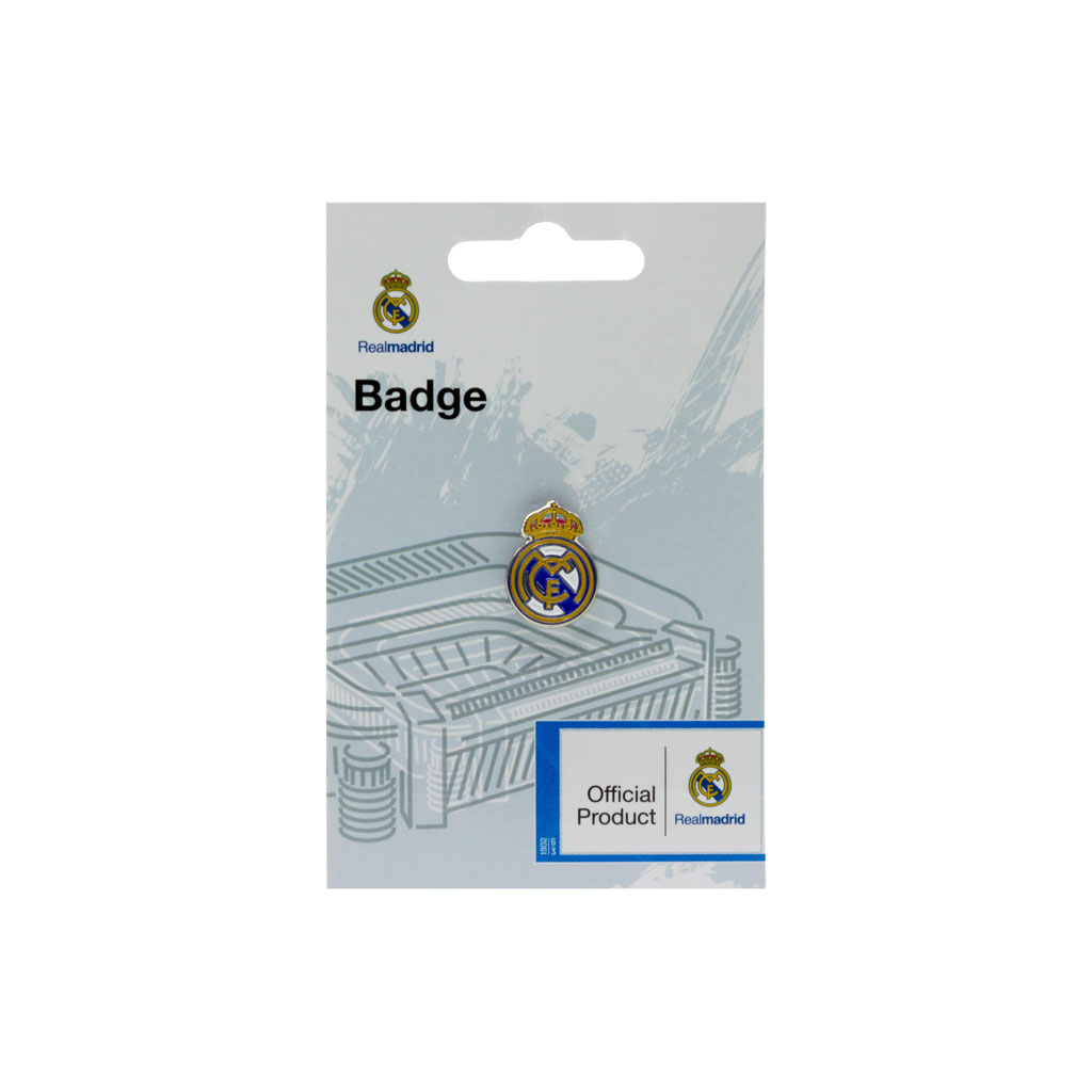 Real Madrid Round Crest Pin Badge
