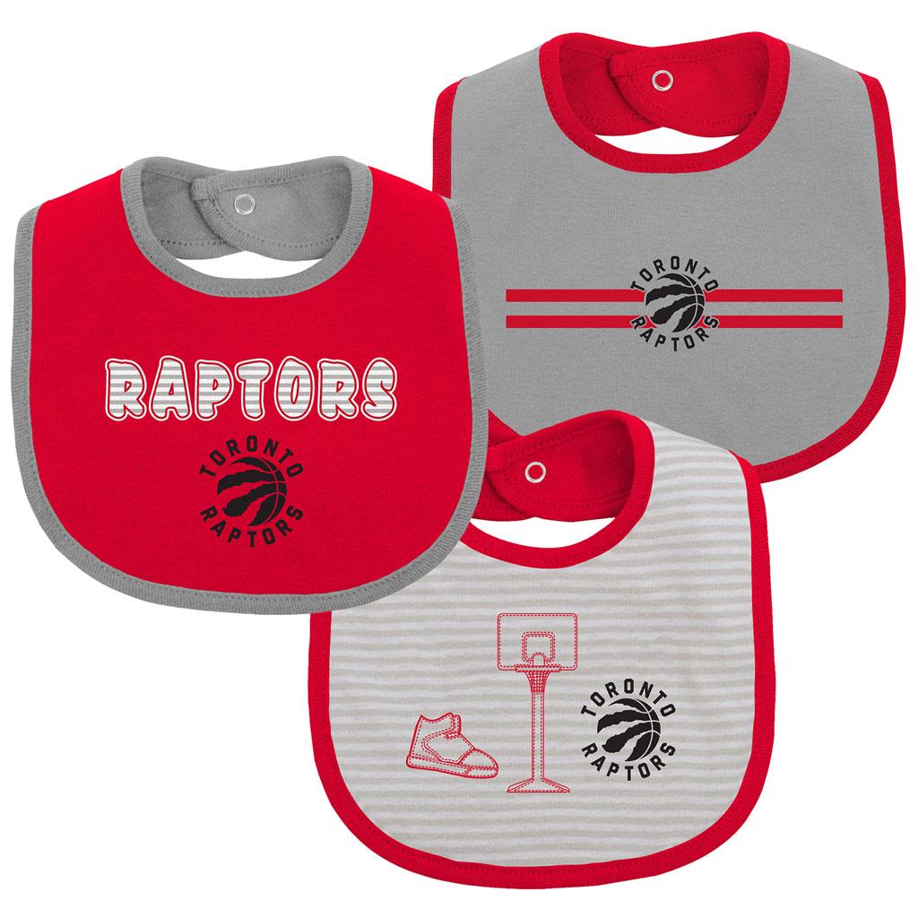 Toronto Raptors Fair Catch 3 Piece Bib Set