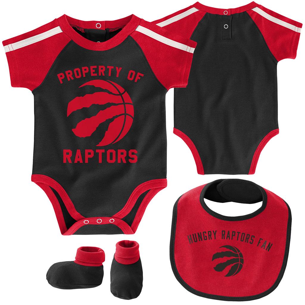 Toronto Raptors Rebound Creeper Bib & Bootie Set 12M