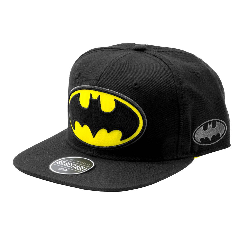 Batman black Snapback Cap with big yellow and black logo