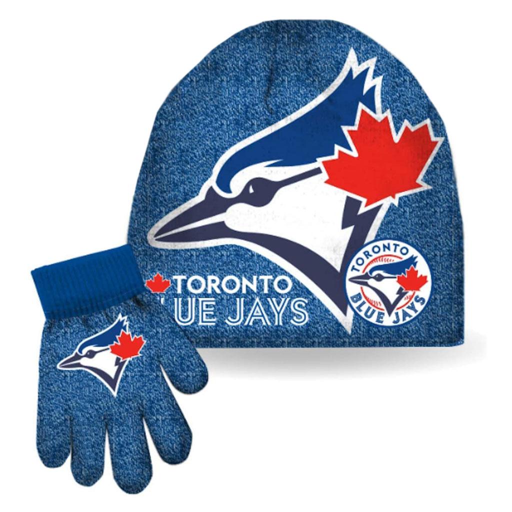 Toronto Blue Jays MLB Boys Toque and Gloves Set