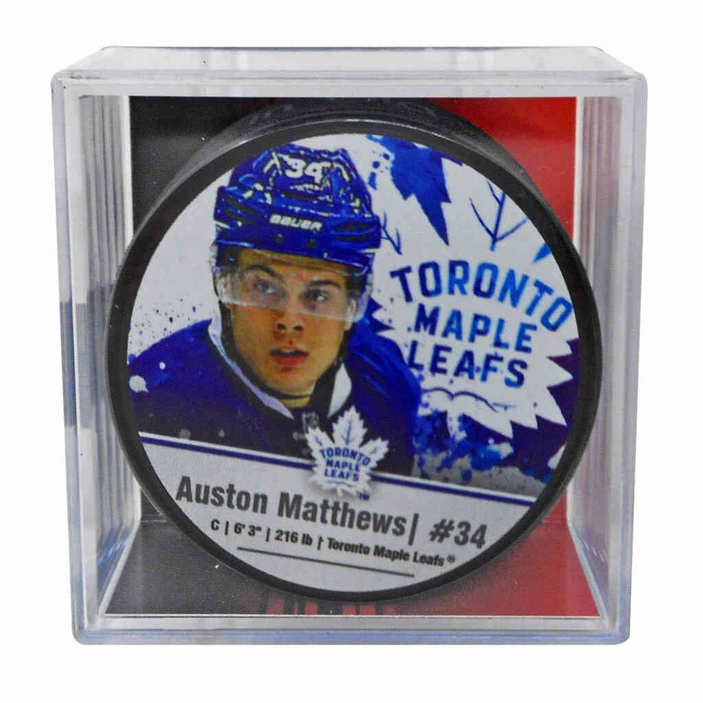 Maple Leafs Matthews Cube Puck