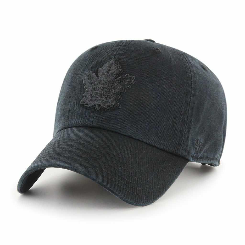 Toronto Maple Leafs NHL 47 Clean Up Baseball Cap all black