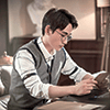Shen Wei reading