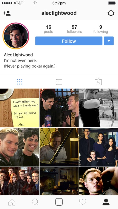 Alec's Instagram