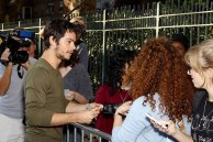 Dylan with fans