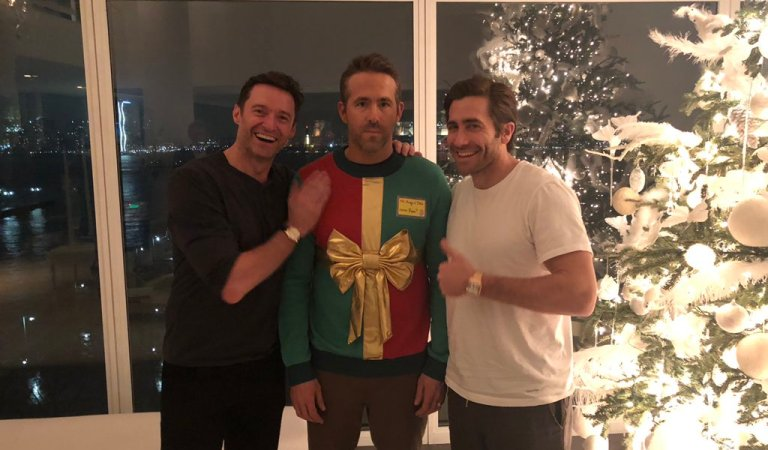 Hugh Jackman & Jake Gyllenhall Troll Ryan Reynolds In Christmas Surprise