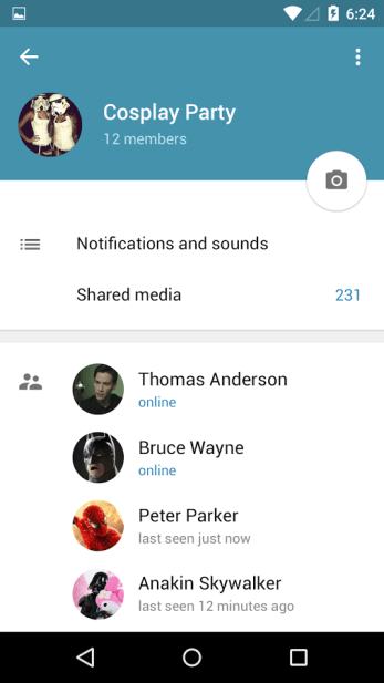 Telegram Material Design Screenshot 5
