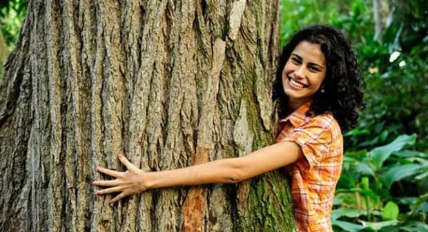 Abrazar árboles para sanar