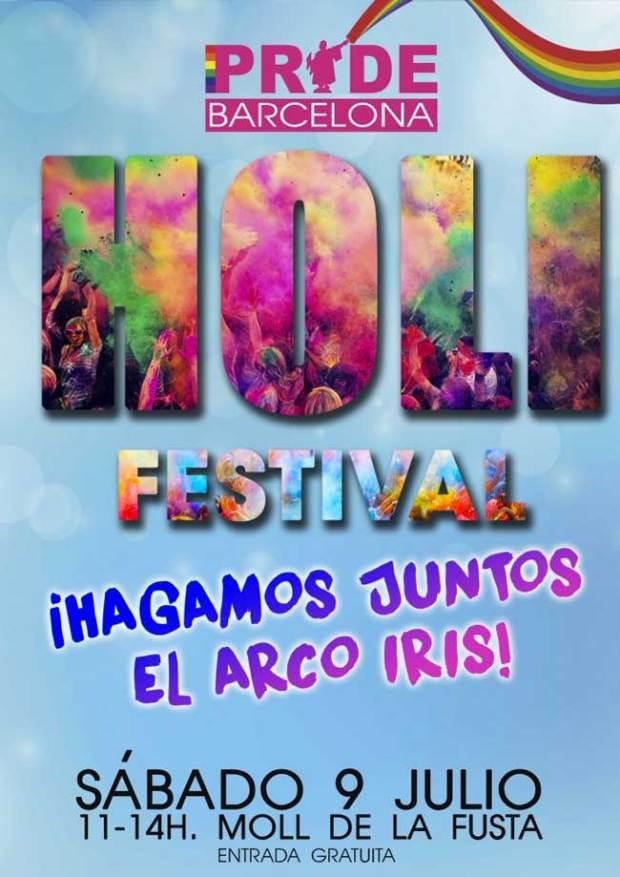 Cartel Holi Pride Barcelona 2016