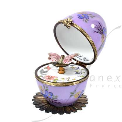 butterfly automata purple limoges music egg