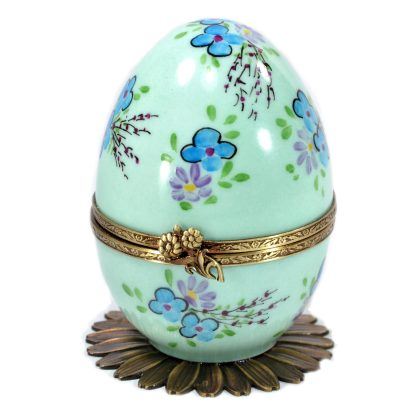 butterfly automata green limoges music egg