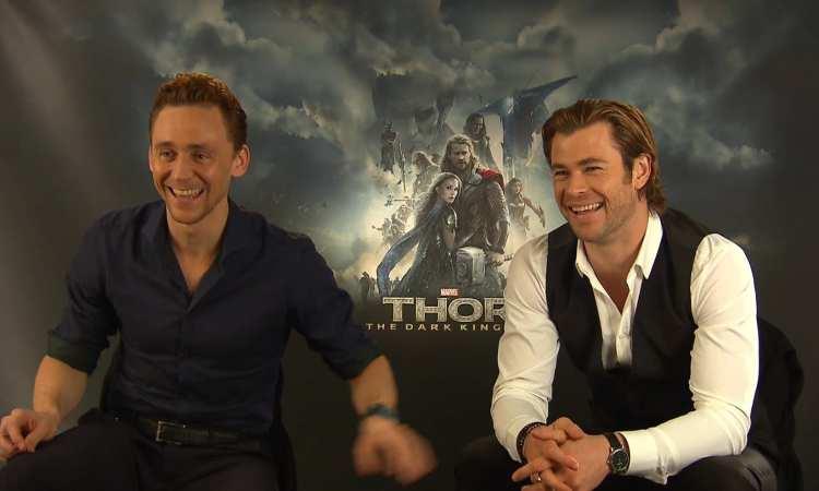 Chris Hemsworth and Tom Hiddleston visit Children in