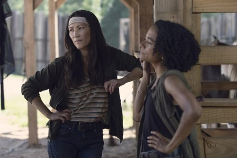 Eleanor Matsuura as Yumiko, Lauren Ridloff as Connie - The Walking Dead _ Season 9, Episode 8 -