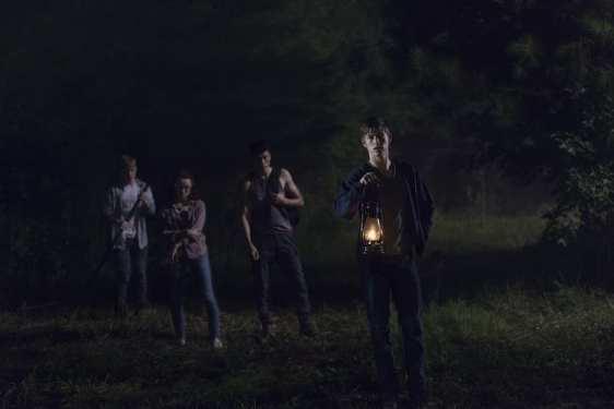 Matt Lintz as Henry, Jackson Pace as Gage, Kelley Mack as Addy, Joe Ando-Hirsh as Rodney - The Walking Dead _ Season 9, Episode 8 -