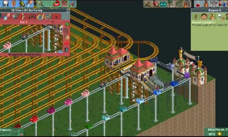 The coaster in action (taken from the YouTube video)