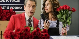 "SPEECHLESS - ""J-I-- JIMMY V-A-L-- VALENTINE"" - The ABC Television Network. (ABC/John Fleenor) JOHN ROSS BOWIE, MINNIE DRIVER"