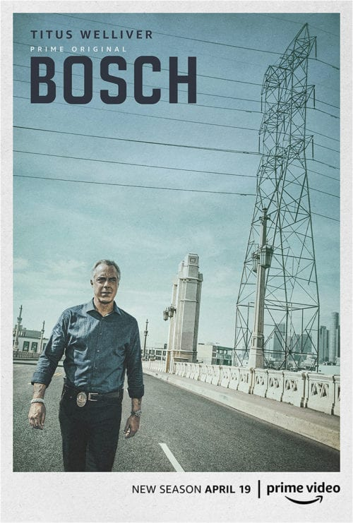 Titus Welliver as Harry Bosch in Bosch season 5 promo poster photo credit: Prime Video