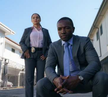 Detective Espinosa (Jacqueline Pinol) and Detective Jerry Edgar (Jamie Hector) in Bosch season 5 episode 3 photo credit: Aaron Epstein/Amazon Prime Video