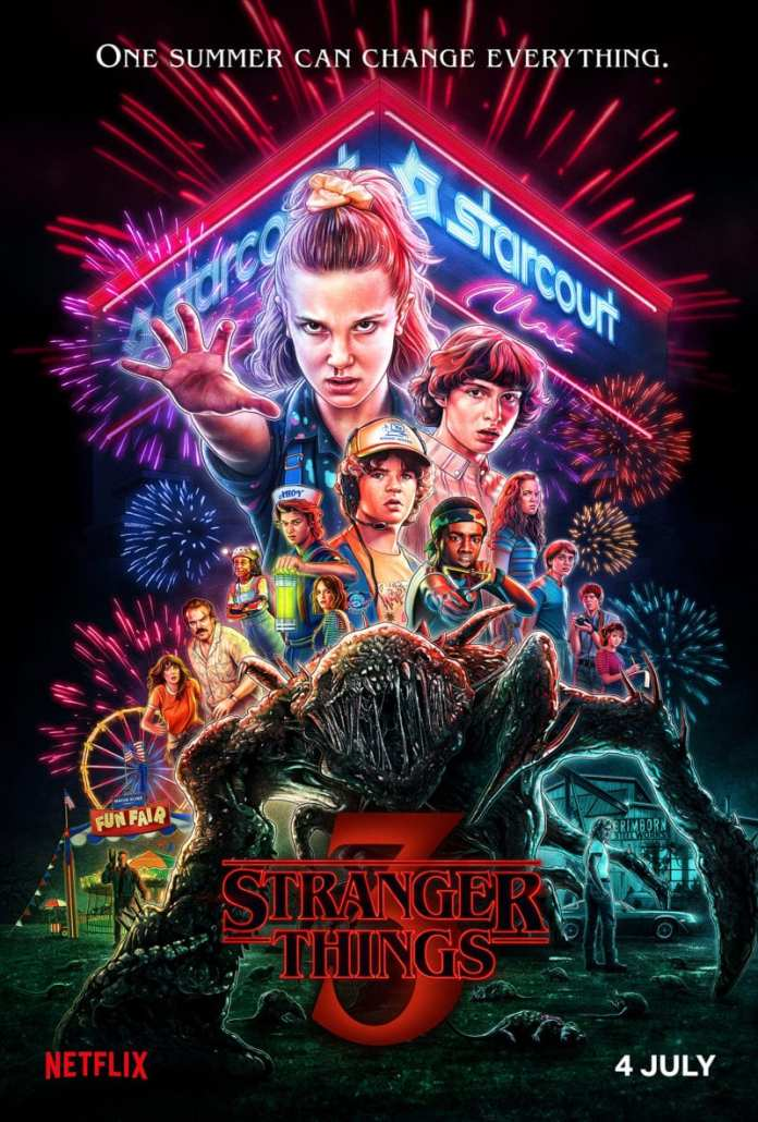 Stranger Things 3 key art, Netflix