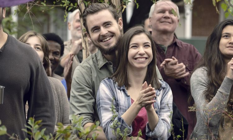 Katelyn Nacon as Enid, Callan McAuliffe as Alden - The Walking Dead