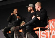 Seth Gilliam, Ross Marquand and Michael Cudlitz at Walker Stalker Con Atlanta 2019 Photo credit: Tracey Phillipps/Fan Fest News