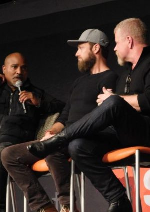 Seth Gilliam, Ross Marquand and Michael Cudlitz at Walker Stalker Con Atlanta 2019 Photo credit: Tracey Phillipps