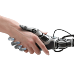 human and robot hands