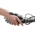 human and robot hands