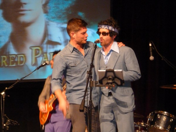 Now Rob's a rockstar too! (with Jensen Ackles onstage)