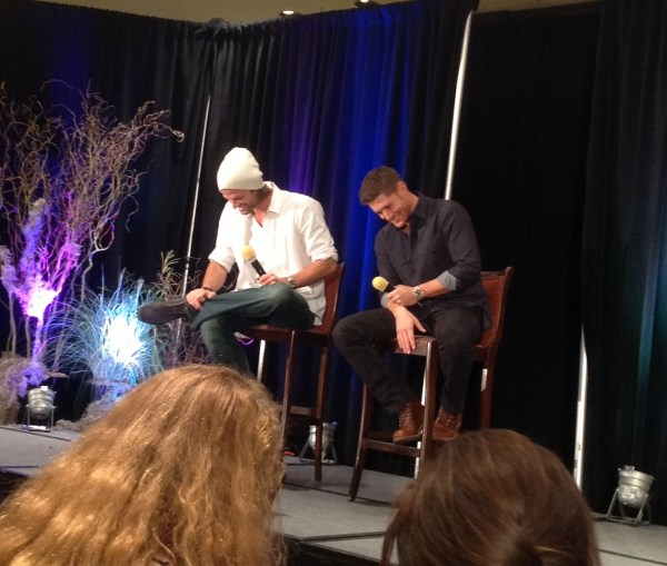 Jared and Jensen lose it onstage