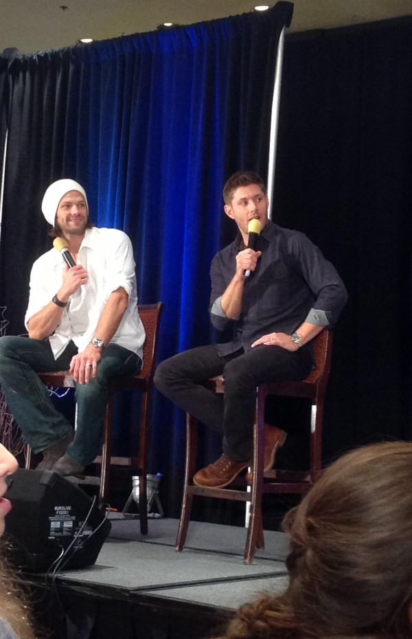 Jared and Jensen listen to fans