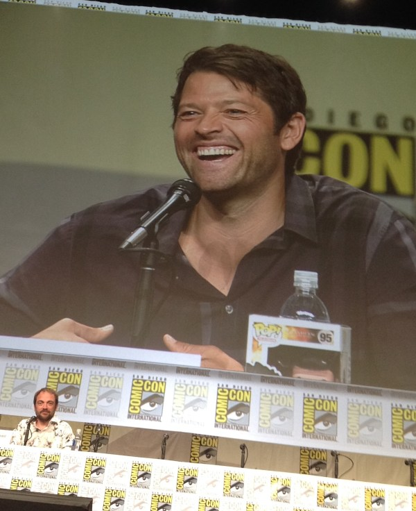 Misha smile! (Stop staring, Mark...)