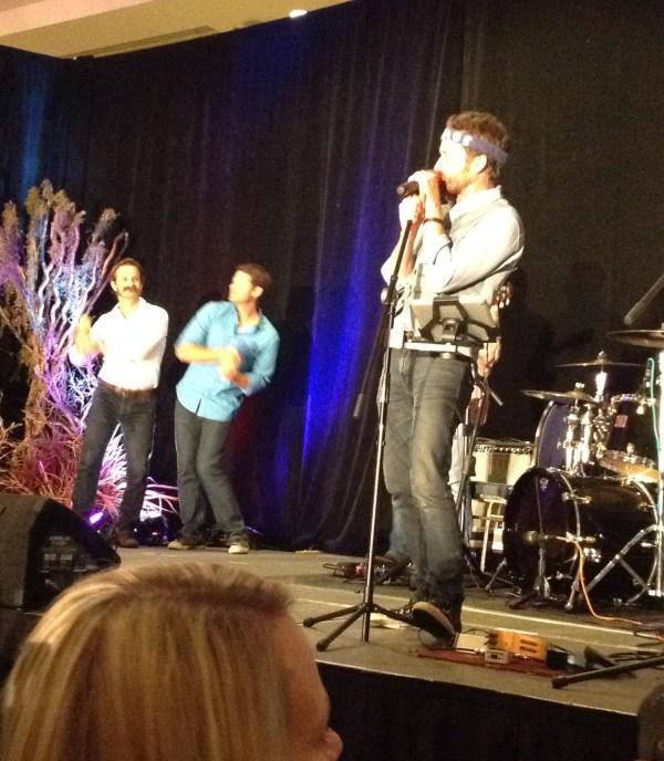 Misha and Richard dancing to Louden Swain