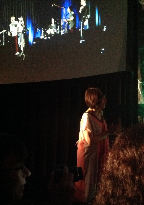 Lauren fangirling over Louden Swain at the cabaret
